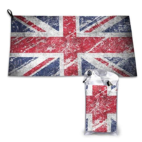 Toallas de Secado Rápido Bandera de Inglaterra Toalla de Playa Súper Absorbente Toalla de Viaje Ligera para Acampar Senderismo Deportes 15.7 x 31.5 Pulgadas