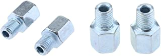 Universal Motorcycle Mirror Mount Adapter - 10Mm Female To 10Mm Male + 10Mm To 10Mm Rh - Rear View - Silver