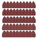 50 Stücke Schleifblätter Papier Maus Shanding Sheets Detail Sander Pads 40 60 80 180 240 Korn Dreieck Shanding Sheets