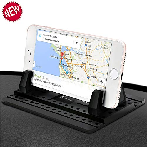 Car Phone Holder, Vansky Silicone Anti-Slip Hands Free Desk Car Phone Mount Compatible with iPhone 11 X Samsung Huawei Smartphone GPS