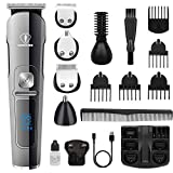 Ceenwes Beard Trimmer Hair Clippers Professional Mens Grooming Kit Cordless...