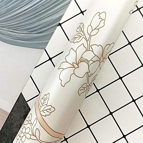 Liveinu Pegatinas para armarios de cocina, de PVC, autoadhesivas, para muebles, resistente al agua, para armarios, muebles, con impresión de flores, estilo 7, 45 x 1000 cm
