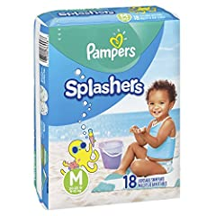 Recommended Weight: 20 - 33 Pounds. Don't swell in water like regular diapers, for a comfortable fit when wet or dry Dual Leak-Guard Barriers fit snugly around baby's legs to help contain messes 360˚ stretchy waistband provides an all-around stretchy...