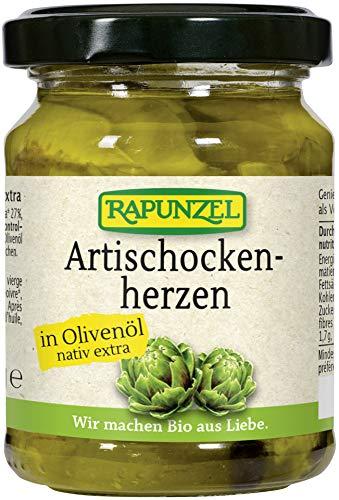 Rapunzel Bio Artischockenherzen in Olivenöl (6 x 120 gr)