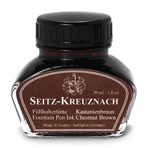 Seitz-Kreuznach Fountain pen ink Chestnut Brown, 1 fl oz, Colors of Nature