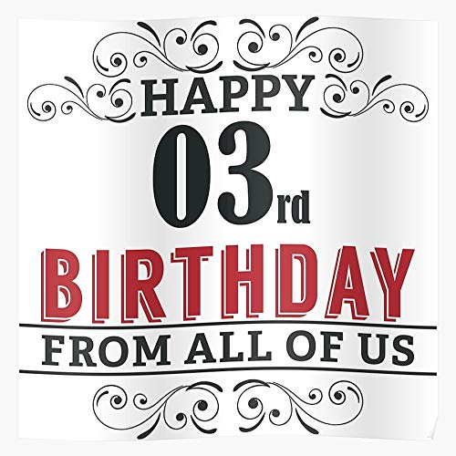 Old 3Rd 3 Birthday 3Th Funny Years I Fsgteam- Impressive and Trendy Poster Print decor Wall or Desk Mount Options