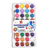 TBC The Best Crafts 36 Colors Watercolor Paint Set, Portable Travel Watercolor Pan Set with Paint Brush, Student Quality...