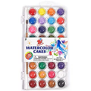 TBC The Best Crafts 36 Colors Watercolor Paint Set, Portable Travel Watercolor Pan Set with Paint Brush, Student Quality Watercolor Cake for Kids (B07PN9BXZH) | Amazon price tracker / tracking, Amazon price history charts, Amazon price watches, Amazon price drop alerts
