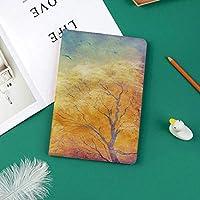 IPad Pro 11 ケース 2018新モデル対応 二つ折スタンド保護ケース iPad Pro 11インチ 専用カバー オートスリープ機能付き 手帳型 タブレットカバーぼやけた空水彩絵筆秋アートワークで秋の木カモメ
