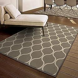 moroccan trellis gray greige area rug - area rug trends