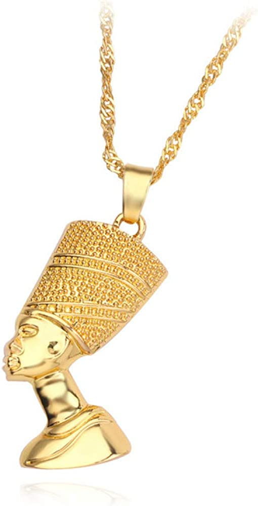 Naswi Antiquity Egypt Jewelry Egyptian Queen Nefertiti Pendant Necklaces for Women Men Amulet Collar Chain Jewellery African Gift