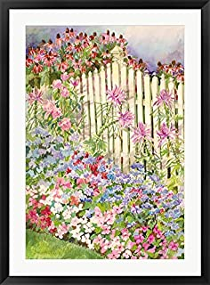 Picket Fence by Joanne Porter Framed Art Print Wall Picture, Black Frame, 29 x 39 inches