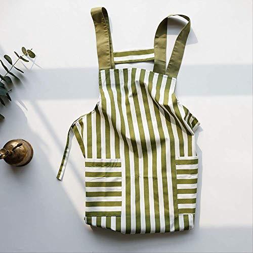 LFWQ Nordic Wind Mode Snelle en droge riem schort keuken thuis schort plus brede schouder gestreepte stijl werkkleding 2 jurken