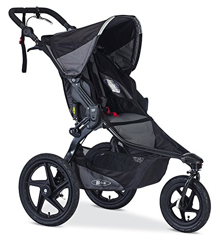 BOB Revolution PRO Jogging Stroller - Up to 75 Pounds - UPF 50+ Canopy - Easy Fold - Adjustable Handlebar with Hand Brake , Black