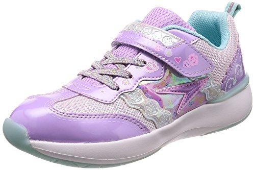 [シュンソク] 運動靴 通学履き 瞬足 軽量 CREAM 19~24.5cm 1.5E キッズ 女の子 ラベンダー 23 cm