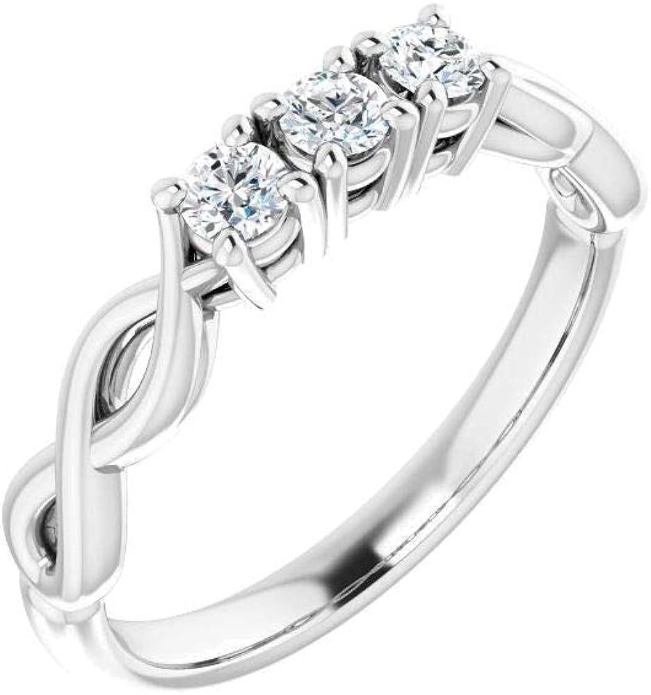 store Bonyak Jewelry Platinum Tampa Mall 1 4 CTW Anniversary Diamond in Size Band