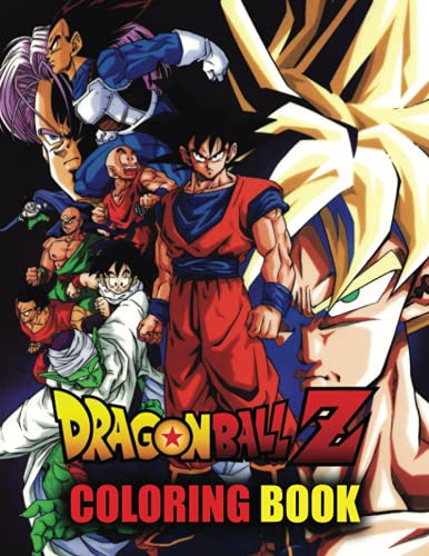 Dragon Ball Z Coloring Book: Manga Coloring Book With 48 Incredible Character Illustrations. Great Coloring Book For Adults or Kids