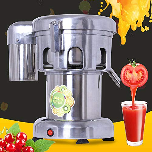 Commercial Electric Juicer Extractor, 370W Professional Countertop Fruit Vegetable Blender Squeezer Heavy Duty Stainless Steel Centrifugal Juice Extractor (US Stock)