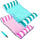 PARENTSWELL 2 Pack Water Hammock Float, Portable Pool Floats for Adults Floating Hammock