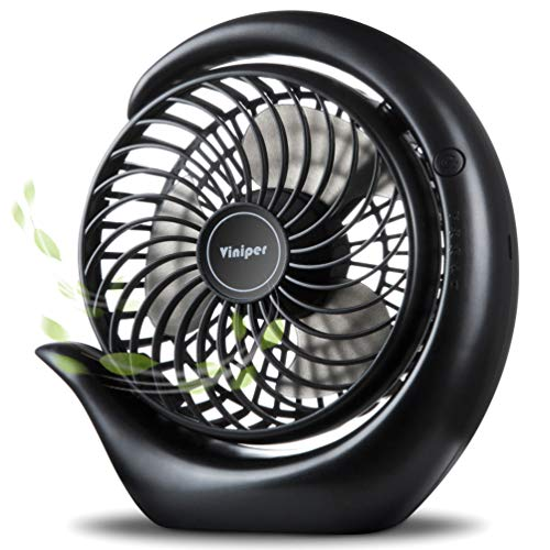 viniper Battery Operated Fan, Rechargeable Fan : 180? Rotation and 3 Speeds Strong Wind Portable USB Quiet Fan, Optimised Battery & Longer Working Hours, Strong Cooling
