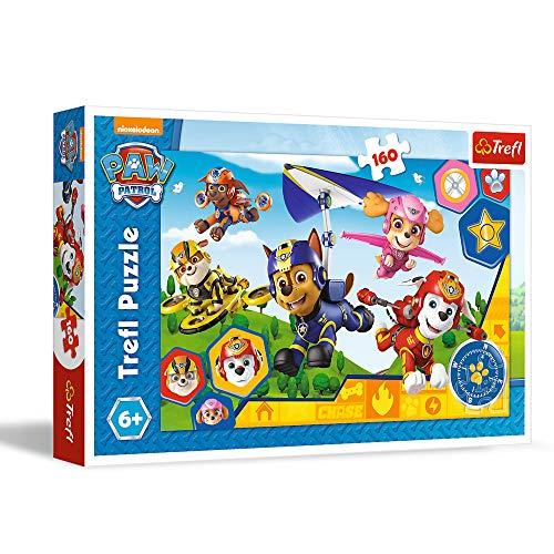 Trefl WPU-15363-01-007-01 Puzzle, Hilfsbereit, 160 Teile, PAW Patrol, für Kinder ab 6 Jahren