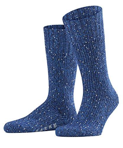 FALKE Herren Socken Earth, Baumwolle/Wollmischung, 1 Paar, Blau (Royal Blue 6051), Größe: 43-46