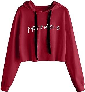 434f06e6e2b7 Sudadera Friends Mujer Serie con Capucha Casual Pullover Hip Hop Danza  Camisetas Mejores Amigas Manga Larga