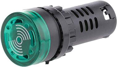 Homyl Multi-purpose High Brightness Signal Lamp Buzzer Alarm 22mm Mounting Hole - Green 24V, 65MM