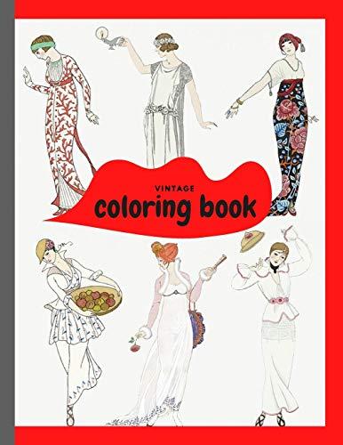Vintage Coloring Book: Vintage People Mini Coloring Book based on George Barbier's...