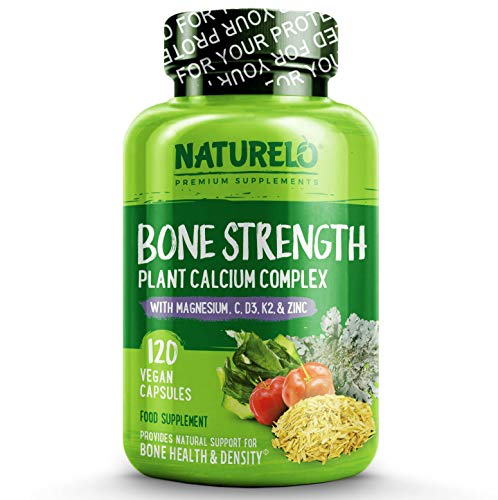 NATURELO Bone Strength Plant-Based Calcium Complex, 0.1809 kg, 120 Units