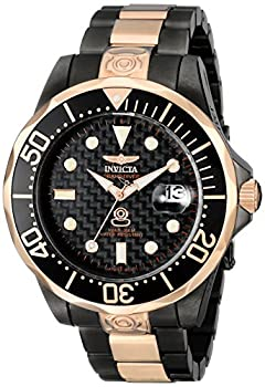 Invicta Men s 10643 Pro Diver Automatic Black Carbon Fiber Dial Two Tone Stainless Steel Watch