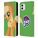 Head Case Designs Officially Licensed My Little Pony Applejack Solo Character Art Leather Book Wallet Case Cover Compatible with Apple iPhone 11