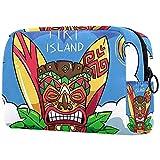 Bolsa Maquillaje Almacenamiento organización Artículos tocador cosméticos Estuche portátil Isla Tiki para Viajes Aire Libre