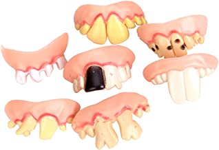LOVIVER 5Pcs Funny Gag Gift Ugly Fake Teeth Costume Party Prop Trick Toy Novelty