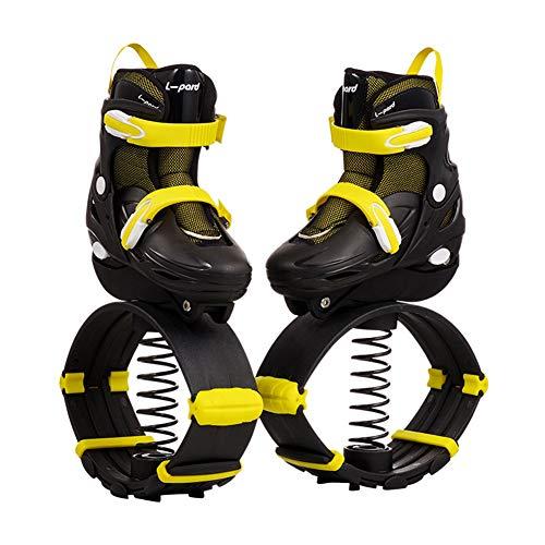 GGOODD Patines de Ruedas Zapatos Kick Rollers Zapatos Multiusos 2 en 1 Patines de Ruedas de Rebote Patines en Línea Calzado Deportivo al Aire Libre Patines de Ruedas para Adultos y Niños,Amarillo,M