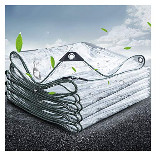 GYYARSX Tarps Glass Clear Tarpaulin Waterproof Heavy Duty Thicken Transparent PVC Soft Glass, Windshield Insulation Cold Protection Plastic Cloth, Apply To Gardening Greenhouse, 23 Sizes