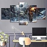 xuei xxl stampe e quadri su tela,fade to silence videogiochi,5 pezzi moderno su tela quadro per parete arte stampata hd adatto,soggiorno decorazione regalo creativo 150x80cm(framed)