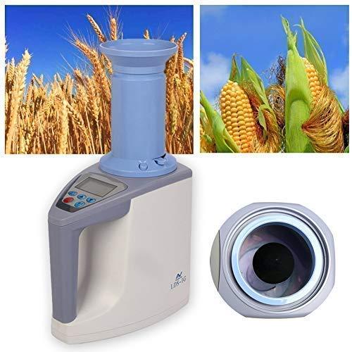 LYXMY Maserung Feuchtigkeits Meter, Digital Feuchtigkeit Analysator mit LCD Display Hintergrundbeleuchtung, Handgehalten Prozessor Feuchtigkeit Tester für Weizen, Paddy, Reis und Korn