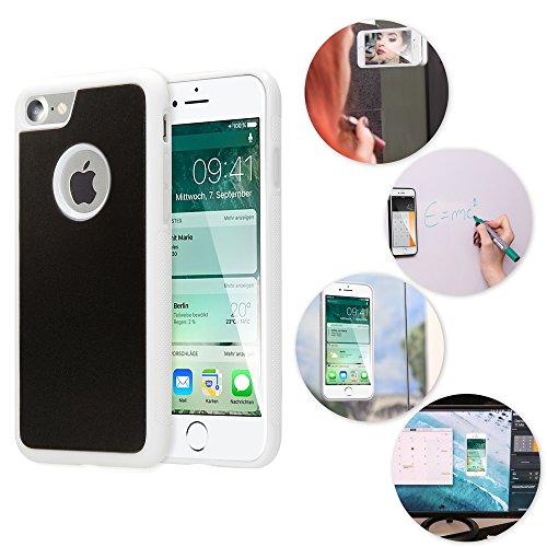 NALIA Antigravità Custodia compatibile con iPhone 7, Protezione Slim Anti-Gravity Selfie-Case Magica Auto-Adesivo Cellulare, Cover Protettiva Telefono Bumper Sottile, Colore:Bianco