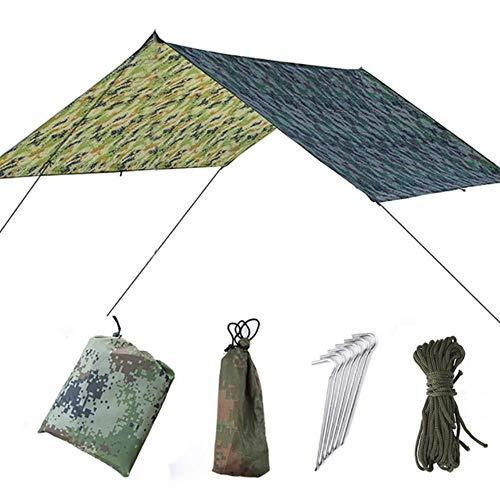 1-2 Persoon Buiten Klamboe Parachute Hangmat Camping Hangend Slaapbed Schommel Draagbaar Dubbel Stoel Hamac Legergroen, camou Alleen luifel, Russische Federatie