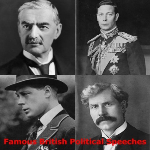 Famous British Political Speeches audiobook cover art