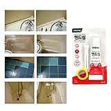 OKONG - Kit de reparación para azulejos de baño, pared o suelo, blanco