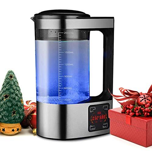 KKTECT Wasserstoff-Wassergenerator 2L Tragbarer Wasserionengenerator Negatives Ion mit hoher Konzentration Wasserstoffreiche Wasserflasche Thermostat Digital Touch Control