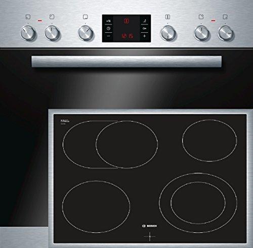 Bosch HND52PS50 Backofen-Kochfeld-Kombination / A / 66 L / 3D Heißluft Plus / 1 Zweikreis-Kochzone / edelstahl