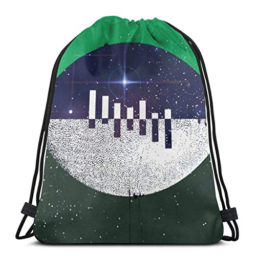 LREFON Bolsas con cordón para gimnasio, mochila, mochila con bola verde, bolsa para almacenamiento deportivo, organizador de zapatos, ahorro para estudiantes de yoga