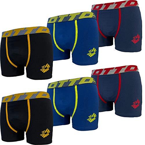 Lotto Herren Boxershort 6er Pack - Stretch Baumwolle - Sportliche Unterwäsche für Herren - Mehrfarbig