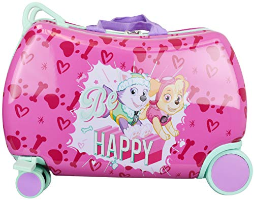Nickelodeon Paw Patrol Boys - Girls Carry On Luggage 20' Kids Ride-On Trunky Suitcase (GIRL MULTI)