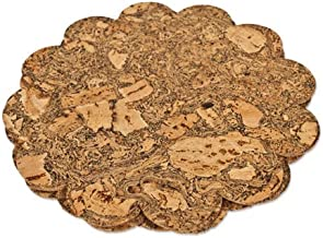 Cork Table Mat: 260 DIA X 3 MM Thick, Flower (4 Pack)