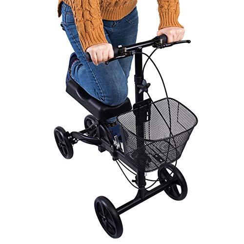 PINGJIA Scooter Plegable para Andador De Rodilla, Andador De Rodilla Ajustable, Alternativa Ultra Compacta Y Portátil con Carrito De Cuatro Ruedas para Arrodillarse