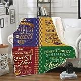 WFQTT Manta de franela de Harry Potter, impresión 3D, cálida, supersuave, para niños y adultos, manta de felpa para cama/sofá/silla (1,60 x 50 pulgadas)